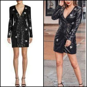 🆕️ LAUNDRY by Shelli Segal Sequin Tuxedo Dress!